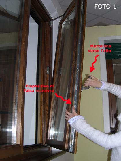 Mobili lavelli porta finestra cardine decentrato - Finestra ribalta sganciata ...